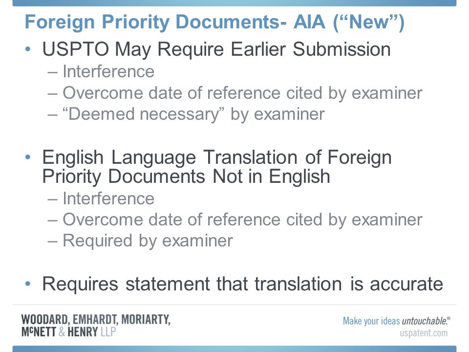 Foreign Priority Documents- AIA ( New )