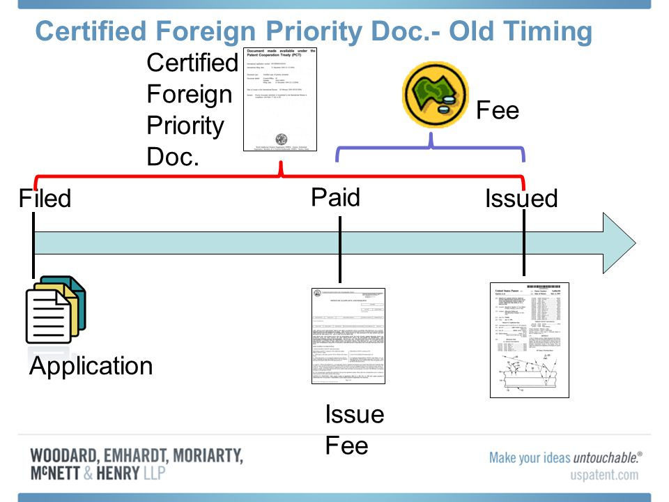 Certified Foreign Priority Doc.- Old Timing