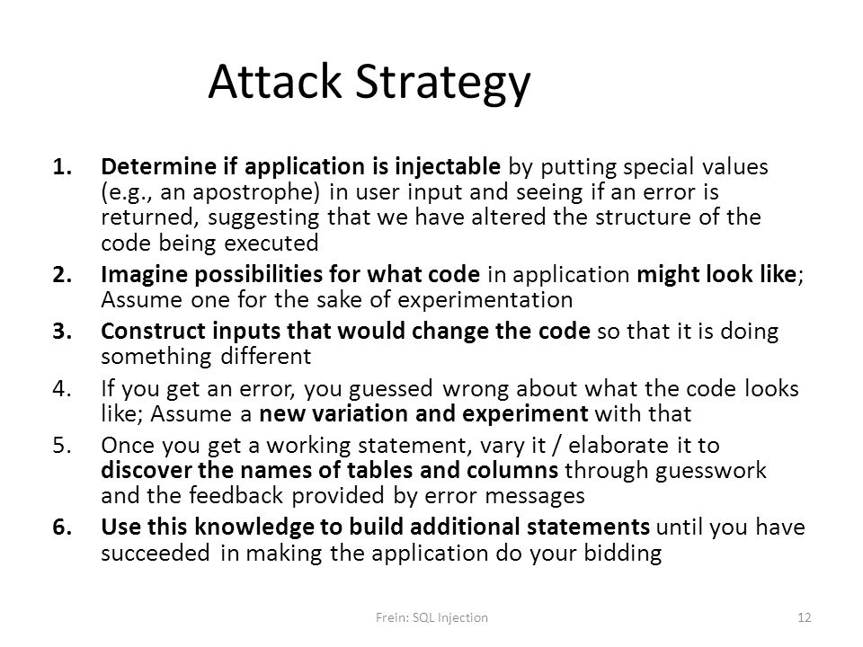 Attack Strategy