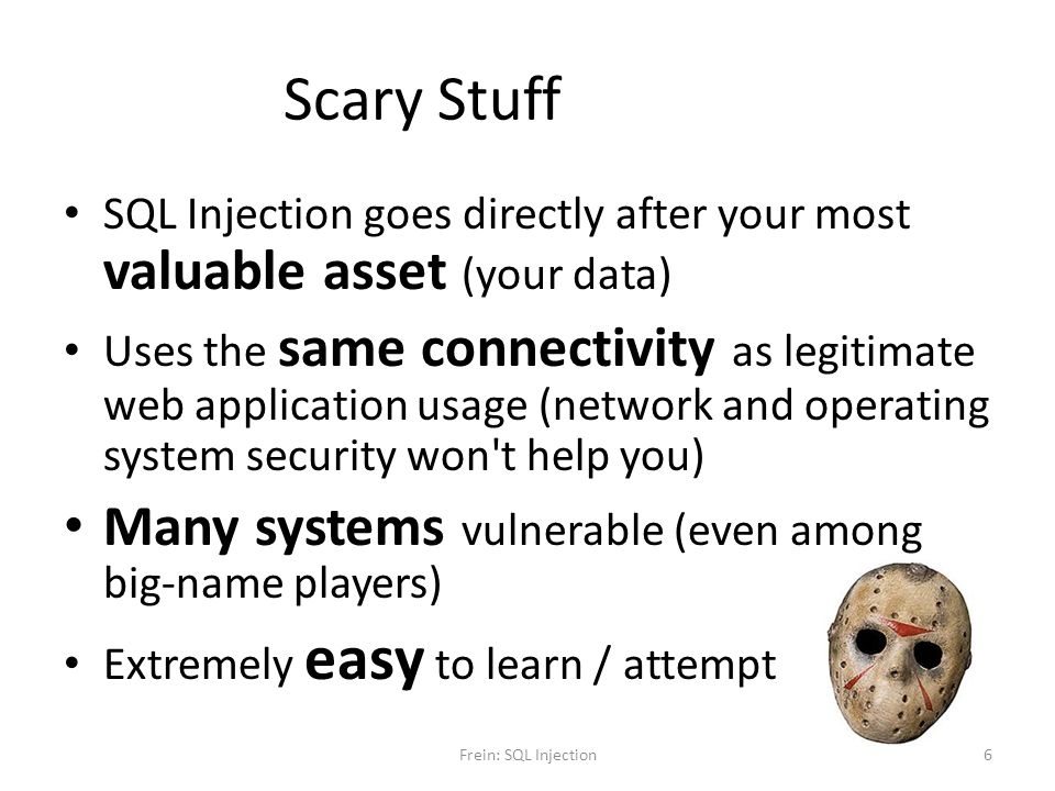 Scary Stuff Many systems vulnerable (even among big-name players)
