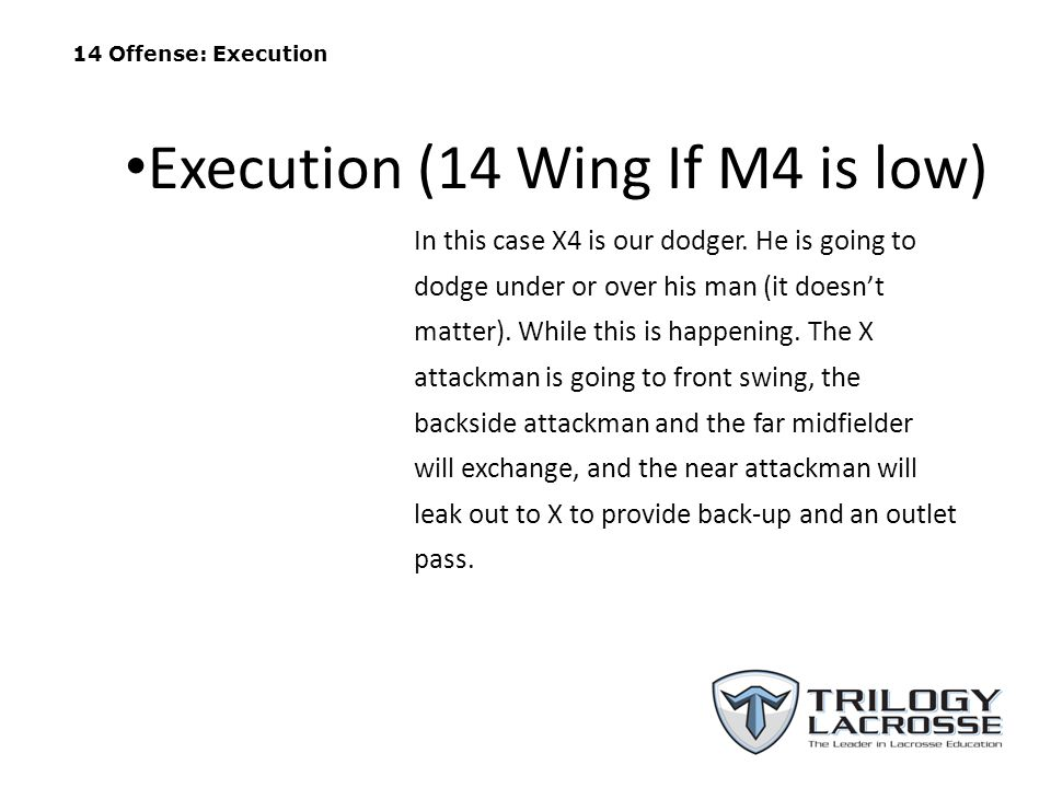 Execution (14 Wing If M4 is low)