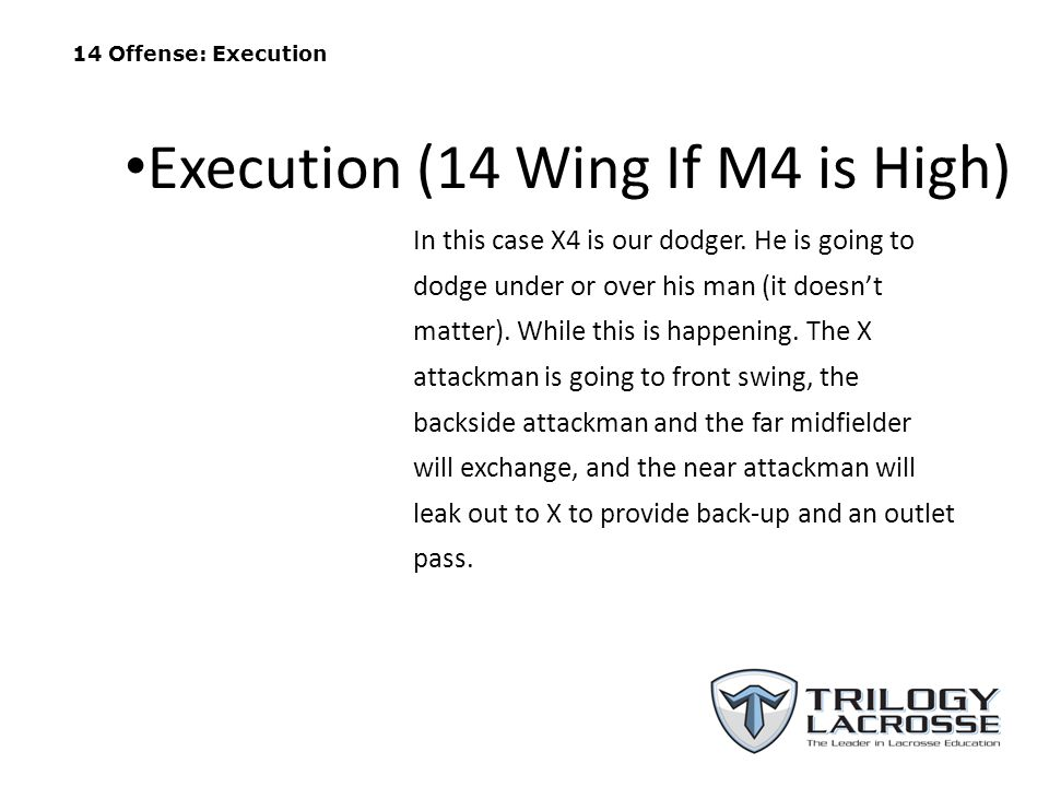 Execution (14 Wing If M4 is High)