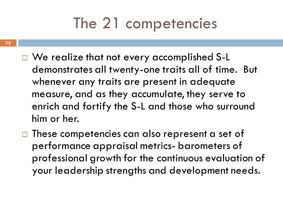 The 21 competencies