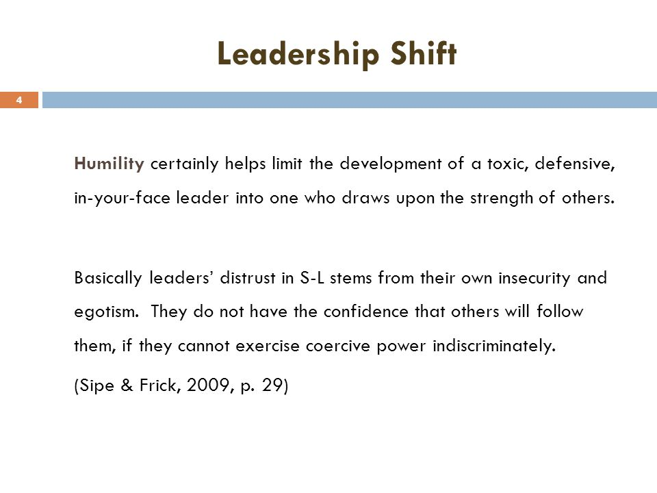 Leadership Shift