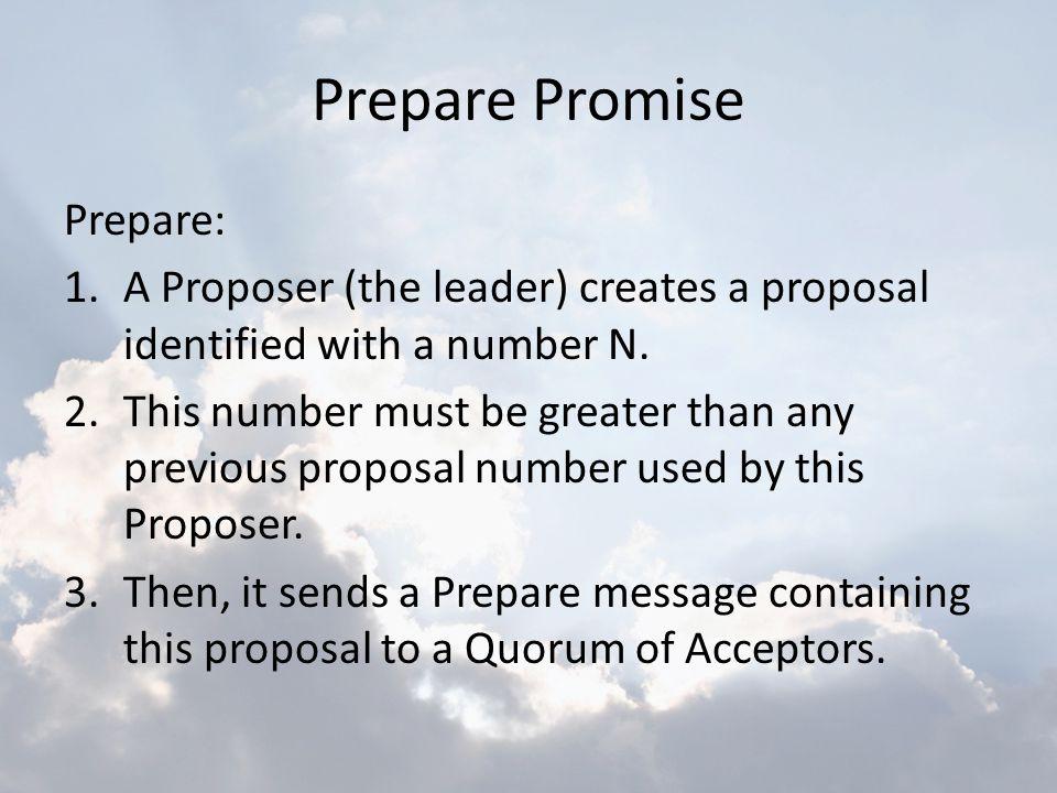Prepare Promise Prepare: