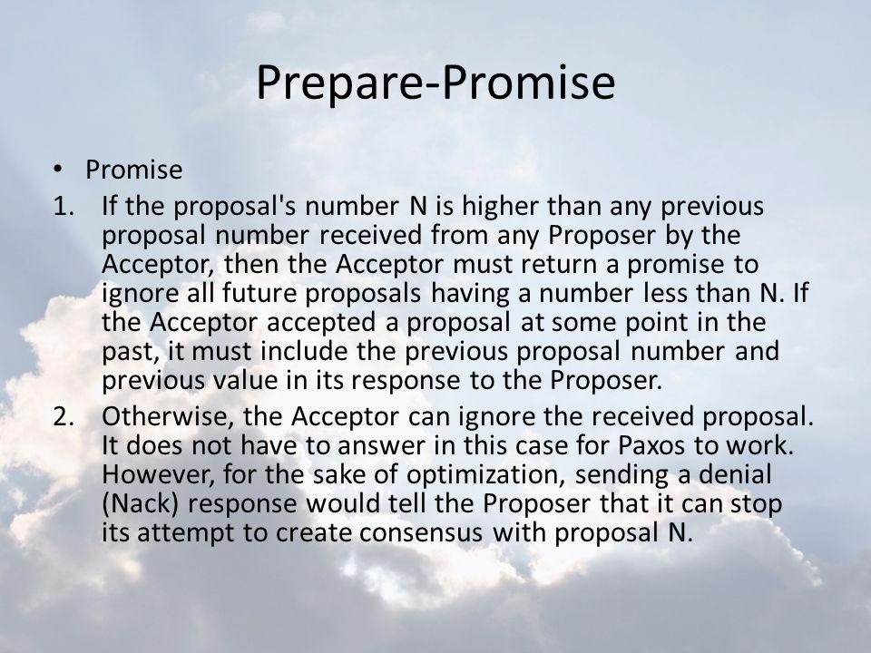 Prepare-Promise Promise