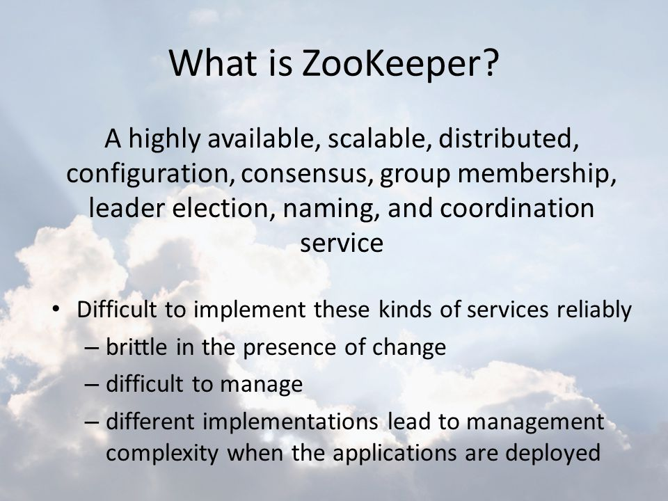 What is ZooKeeper
