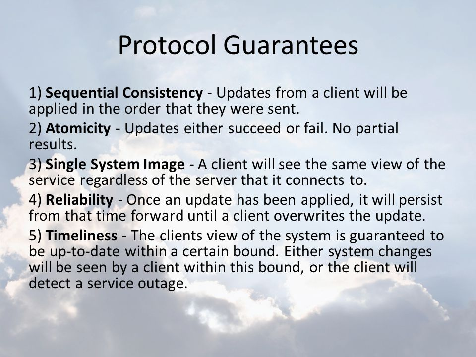Protocol Guarantees