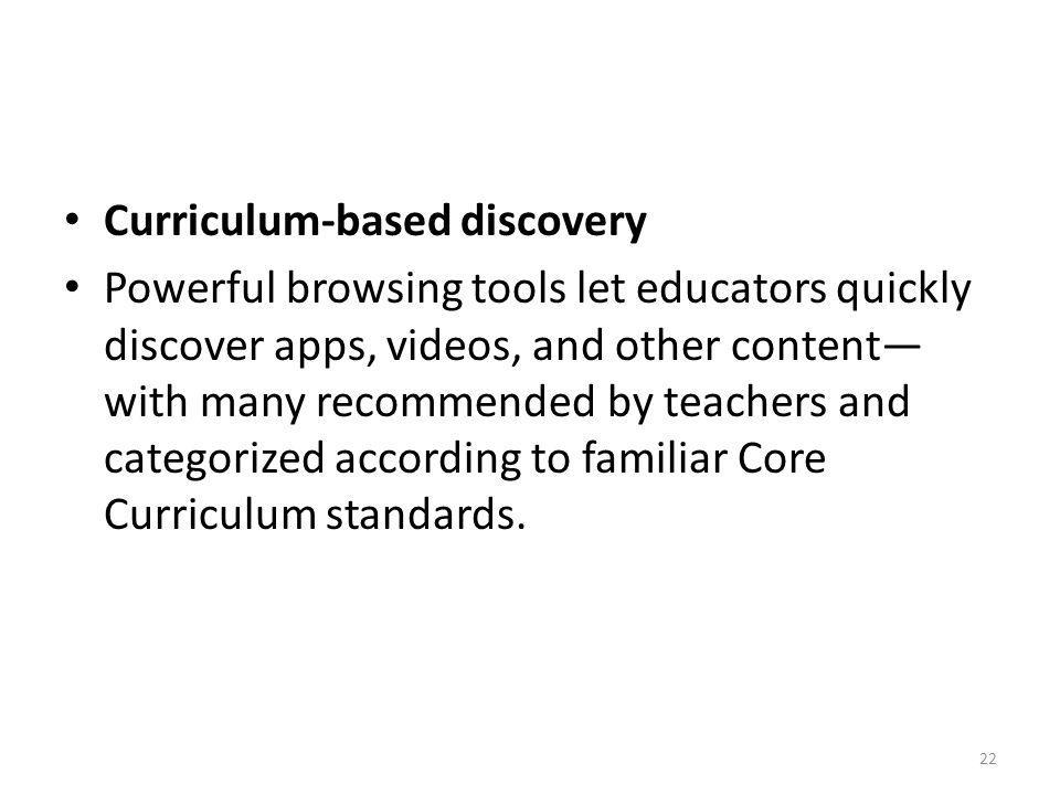 Curriculum-based discovery