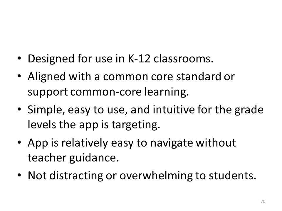 Designed for use in K-12 classrooms.