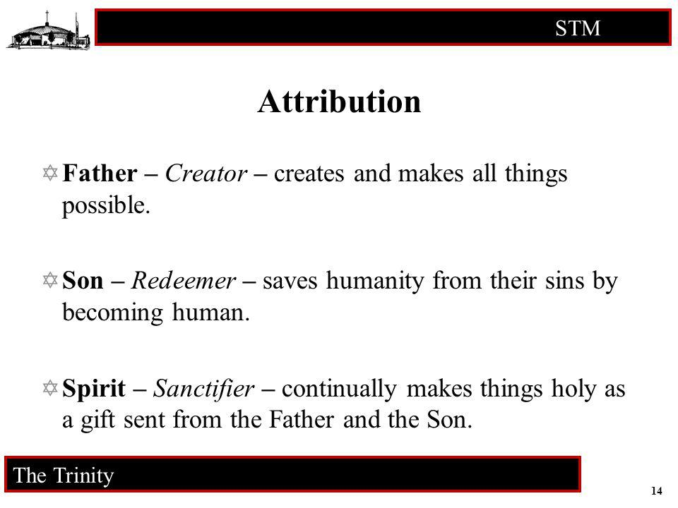 Attribution Father – Creator – creates and makes all things possible.