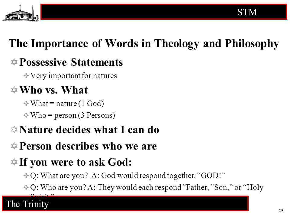 The Importance of Words in Theology and Philosophy