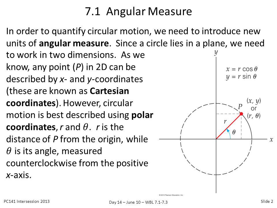 7.1 Angular Measure