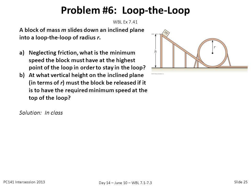 Problem #6: Loop-the-Loop