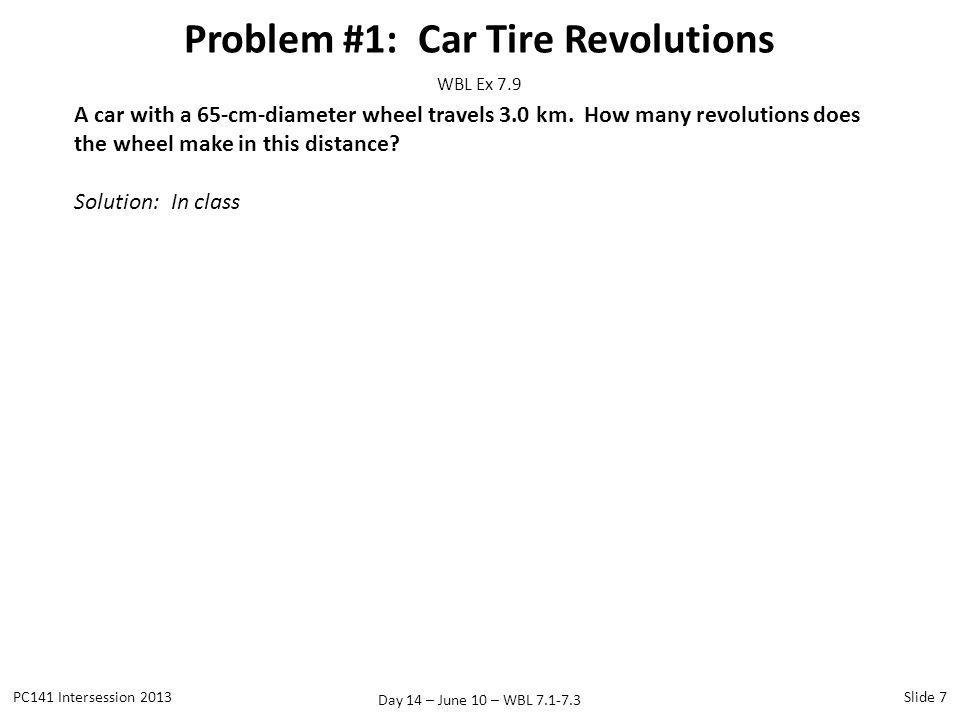 Problem #1: Car Tire Revolutions