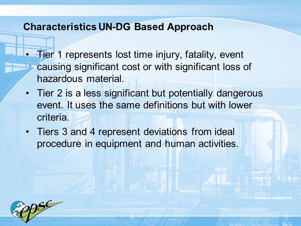 Characteristics UN-DG Based Approach
