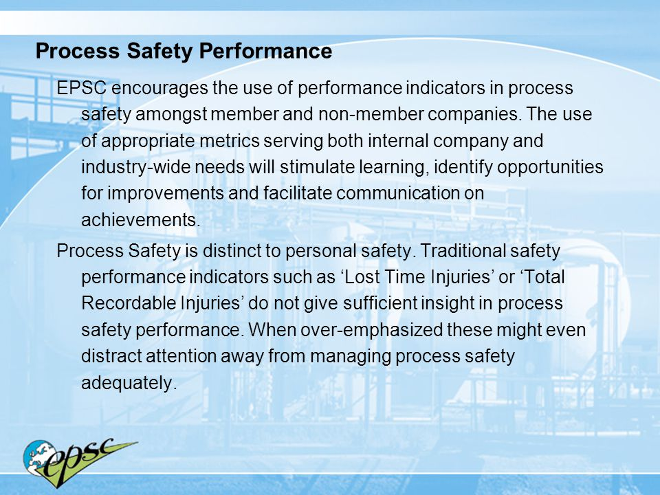 Process Safety Performance
