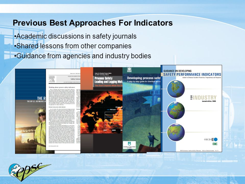 Previous Best Approaches For Indicators