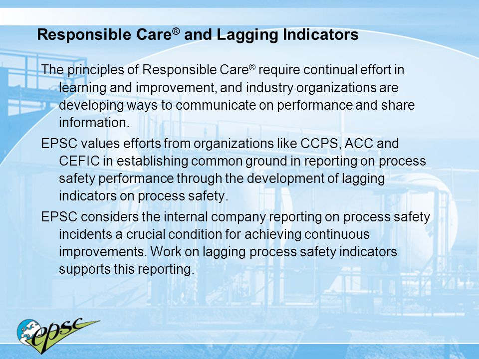 Responsible Care® and Lagging Indicators