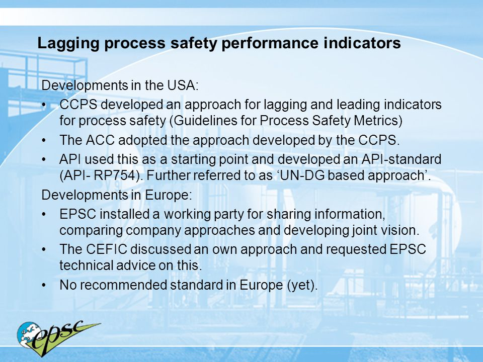Lagging process safety performance indicators