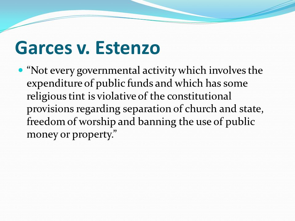 Garces v. Estenzo