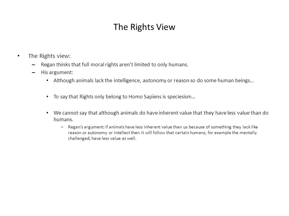 The Rights View The Rights view: