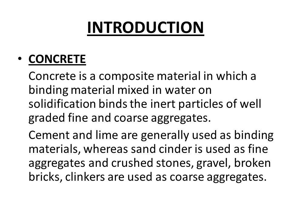 INTRODUCTION CONCRETE