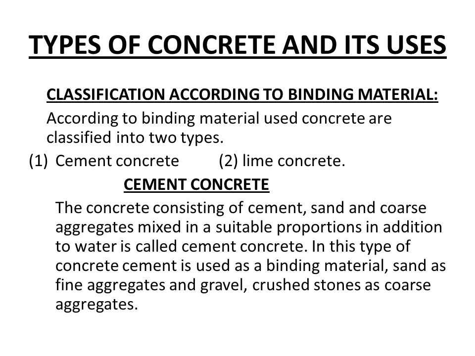 concrete types and uses pdf