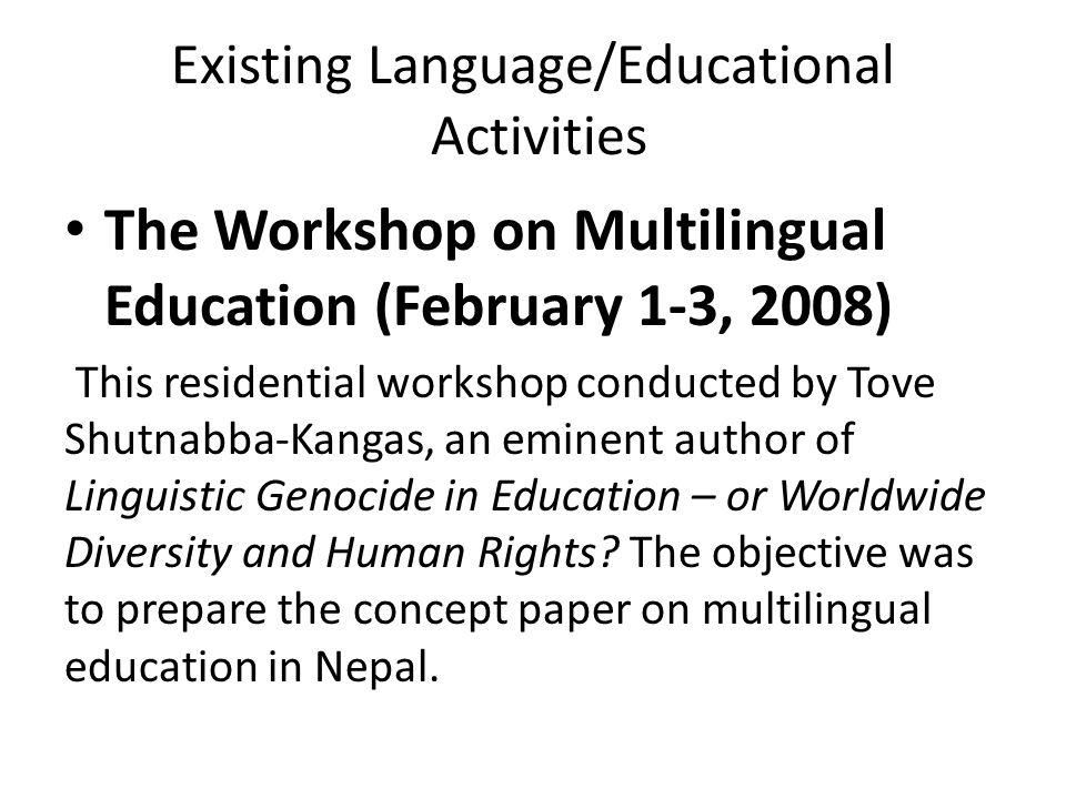 Existing Language/Educational Activities