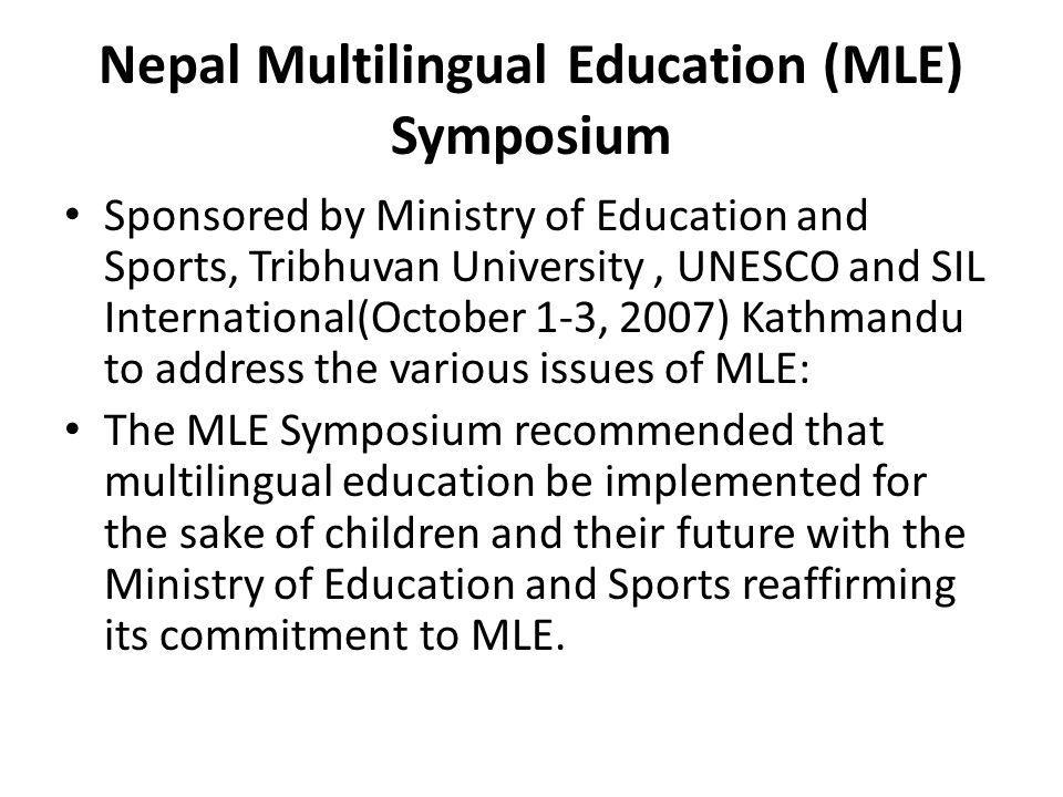Nepal Multilingual Education (MLE) Symposium