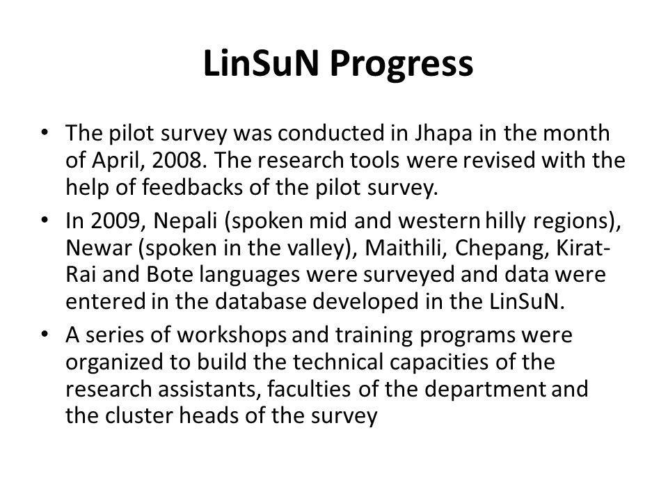 LinSuN Progress
