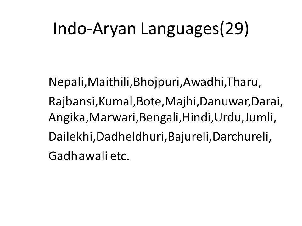 Indo-Aryan Languages(29)