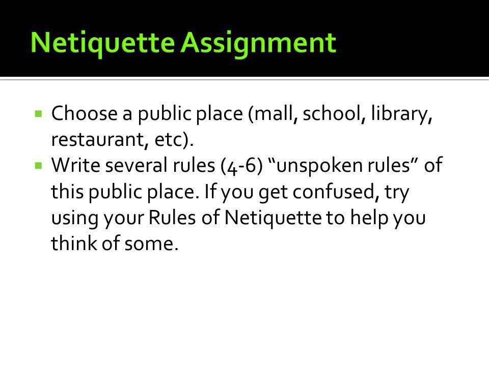 Netiquette Assignment