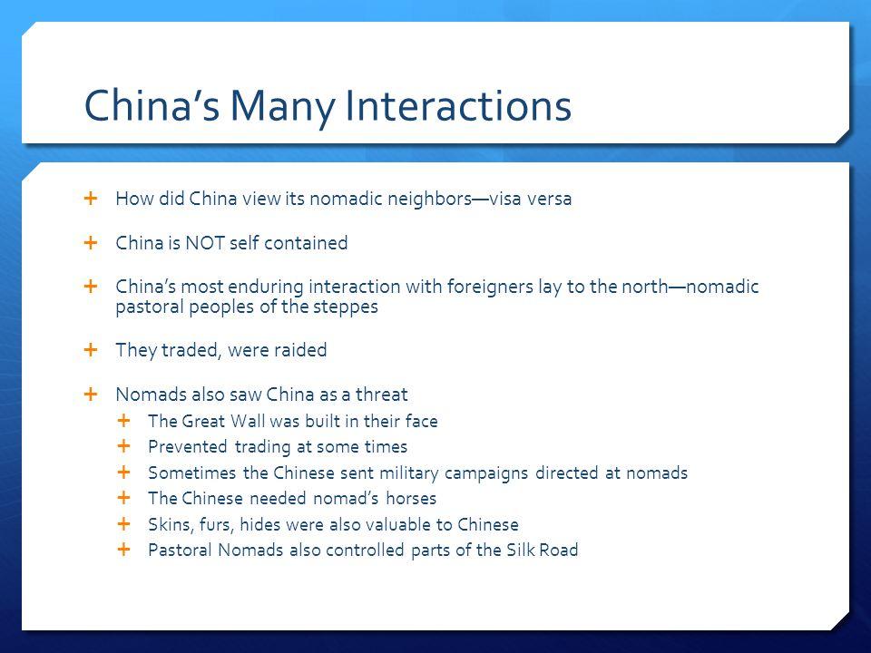 China's Many Interactions