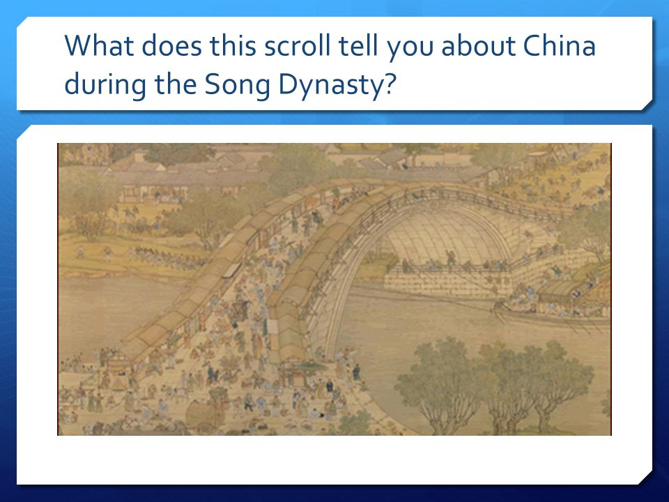 What does this scroll tell you about China during the Song Dynasty