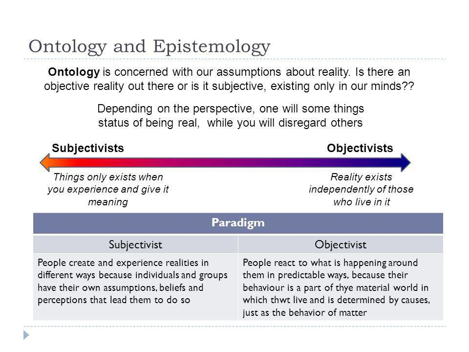 Ontology and Epistemology