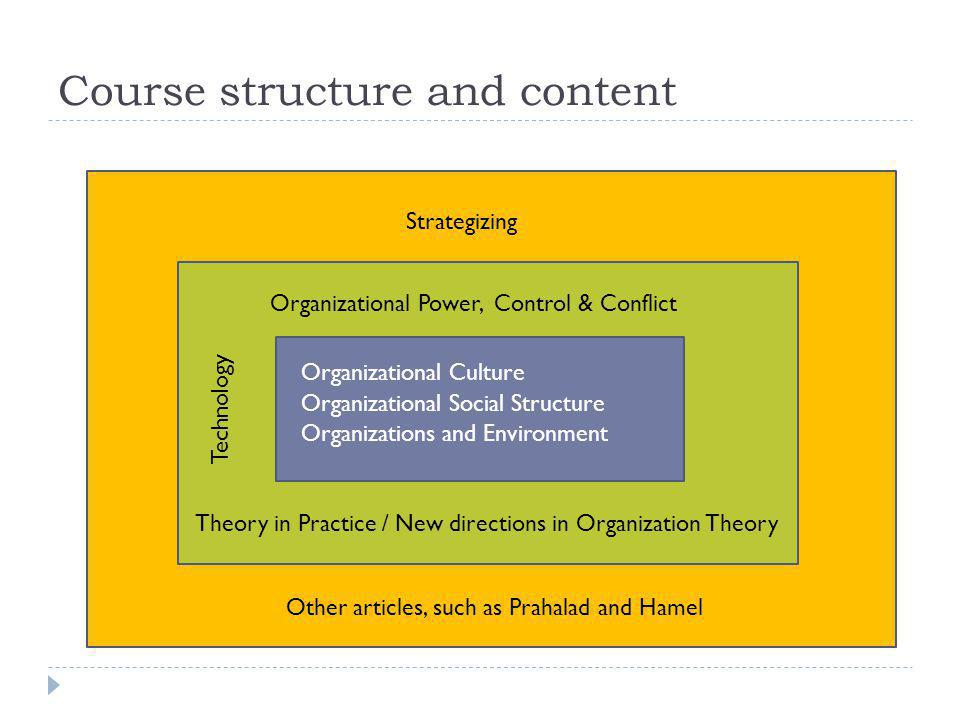 Course structure and content