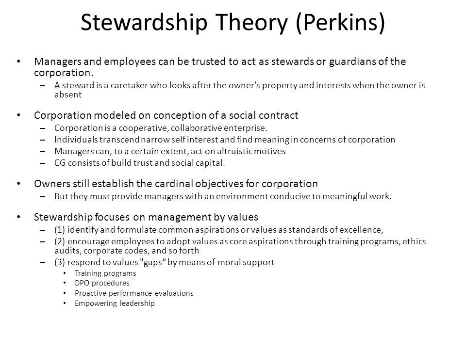 Stewardship Theory (Perkins)