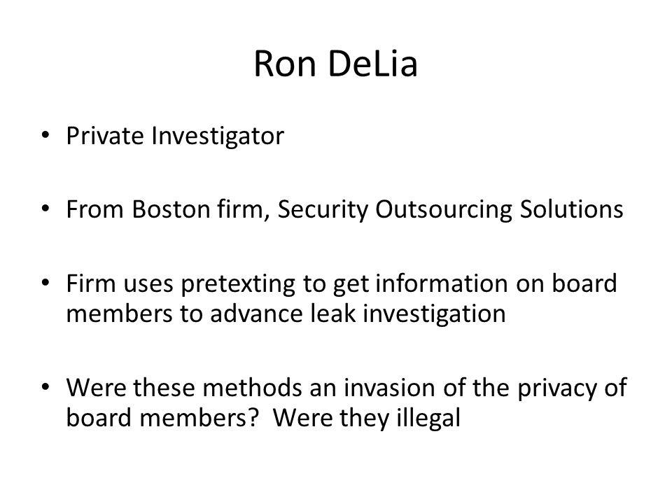 Ron DeLia Private Investigator