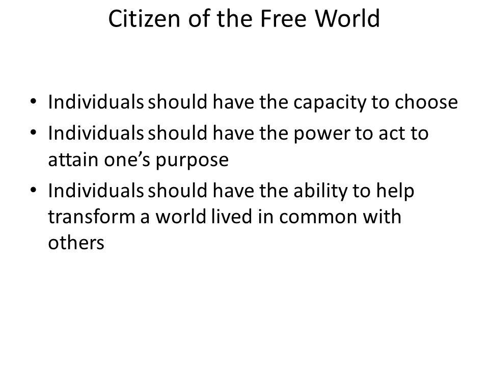 Citizen of the Free World