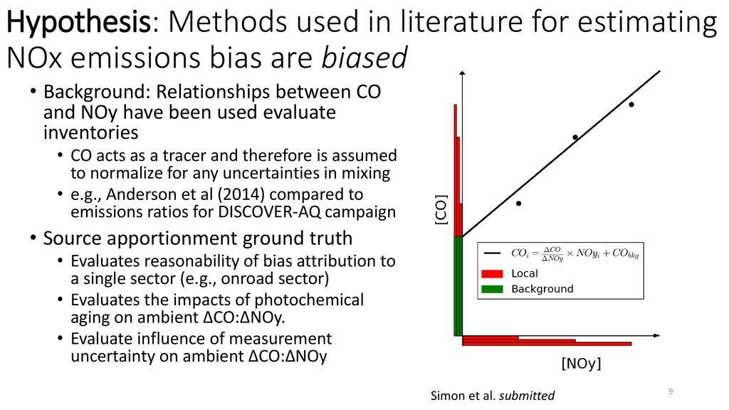 Evaluation of NOx Emissions and Modeling - ppt download