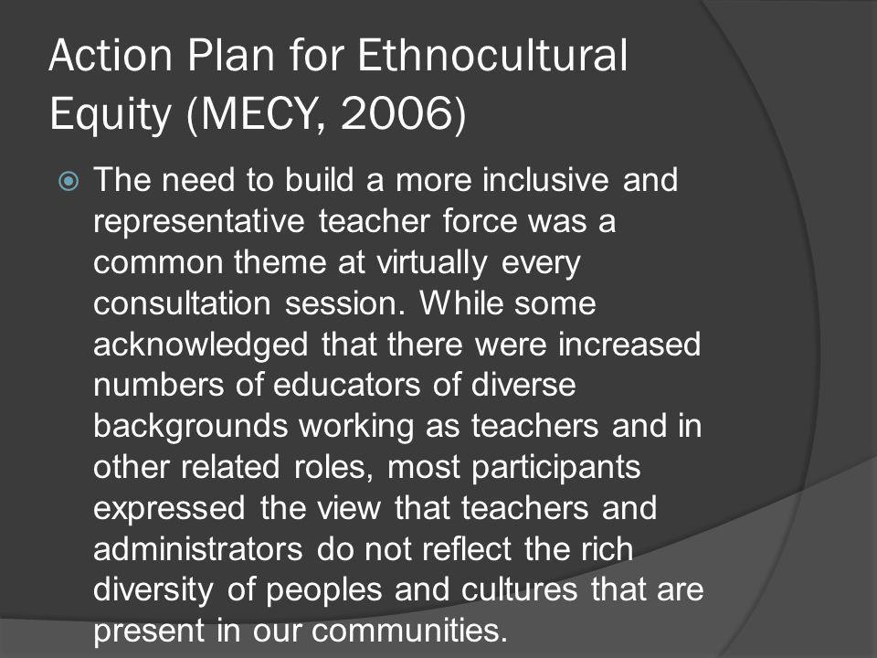 Action Plan for Ethnocultural Equity (MECY, 2006)