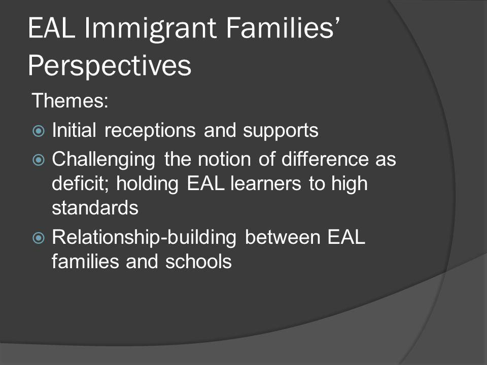 EAL Immigrant Families' Perspectives