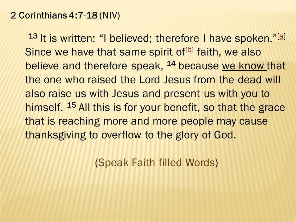 (Speak Faith filled Words)