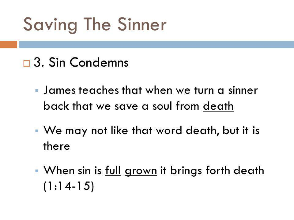 Saving The Sinner 3. Sin Condemns