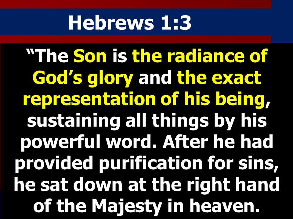Hebrews 1:31:3