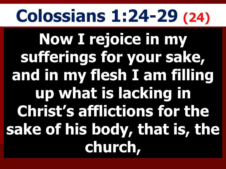 Colossians 1:24-29 (24)