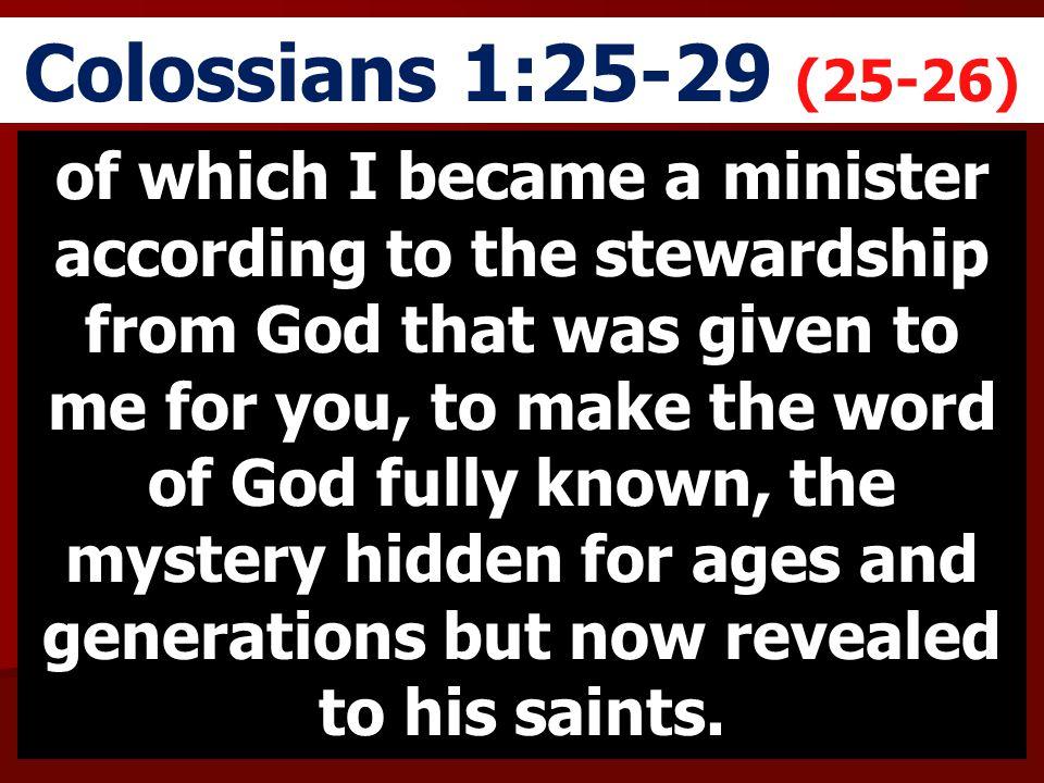 Colossians 1:25-29 (25-26)