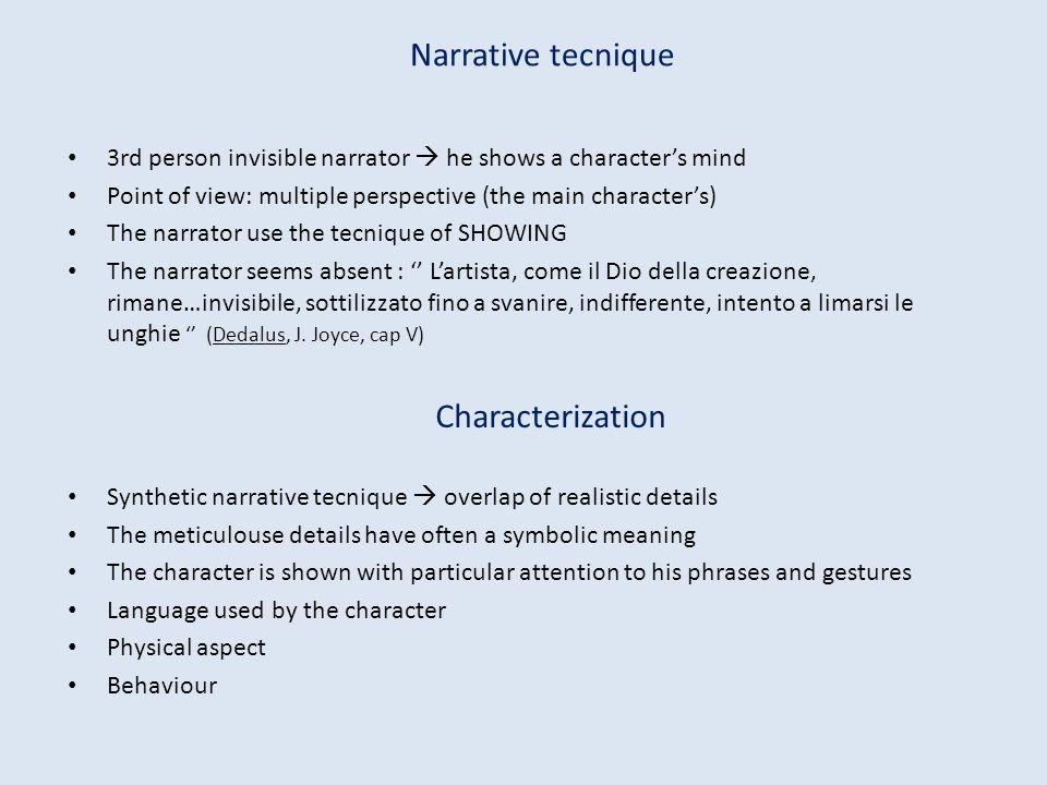 Narrative tecnique Characterization