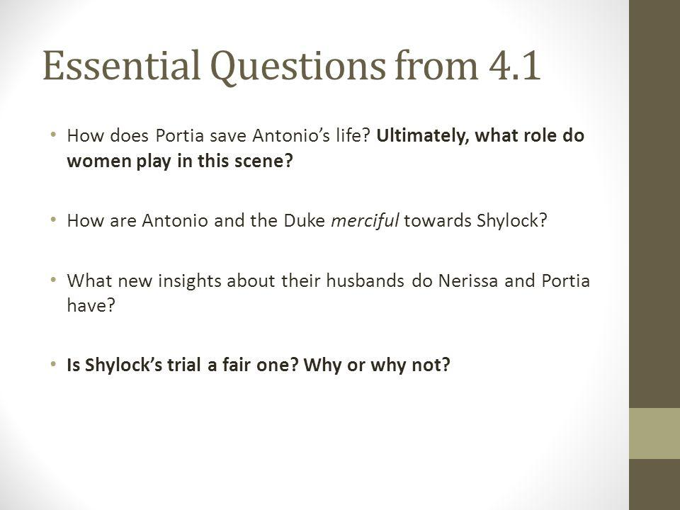 Essential Questions from 4.1